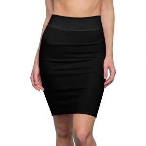 Black Straight Skirt- Women's