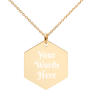 Gold plated personalized necklace
