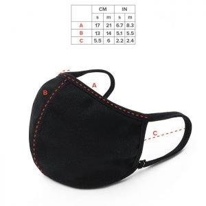 Black Face Masks Three pack