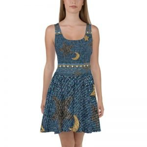 womens all over print dress