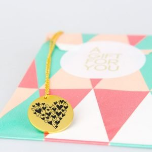 gold plated hearts necklace