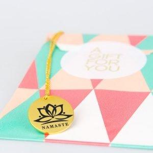namaste gold plated necklace