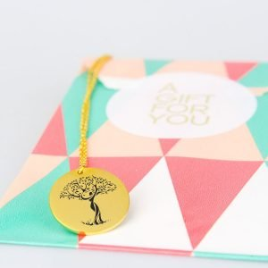 tree of life necklace gold plated