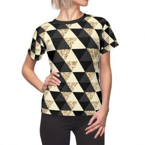 black and gold women's top