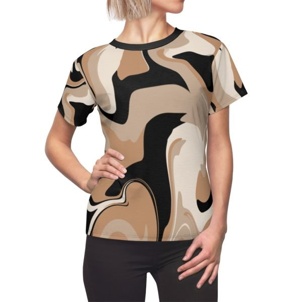 black and tan marble Women's Top