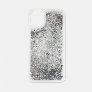 Silver glitter iPhone 11 case