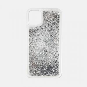 Silver glitter iPhone 11 case