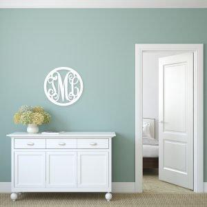 Circle Vine Monogram Single Letter