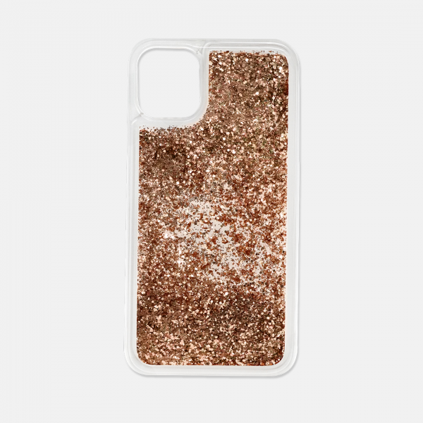 Rose gold glitter iPhone 11 phone case